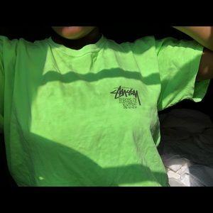 Green stussy shirt